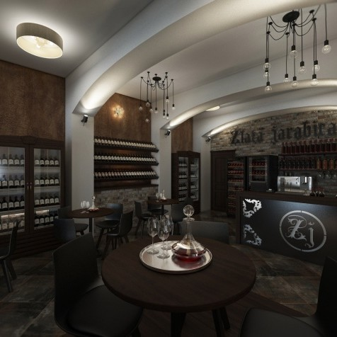 interiér vinotéky Kremnica