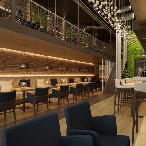 interiér baru Bratislava